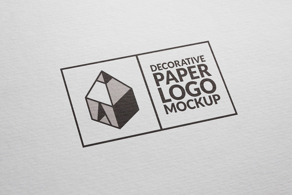 free decorative paper logo mockup on behance