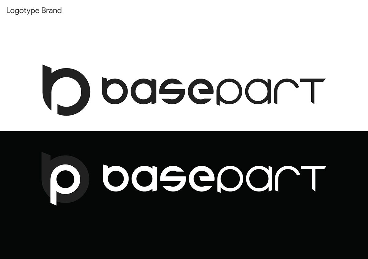 basepart logo Logotype logos portfolio personal branding brand brand identity visual identity Corporate Identity creative design type Logo Design Mockup