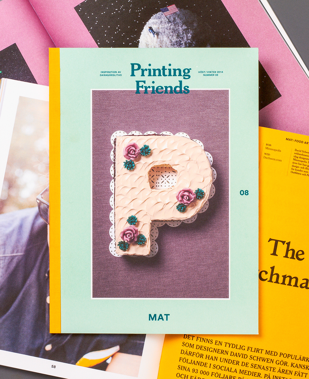 magazine publishing   color editorial type cover cloth print still life SNASK