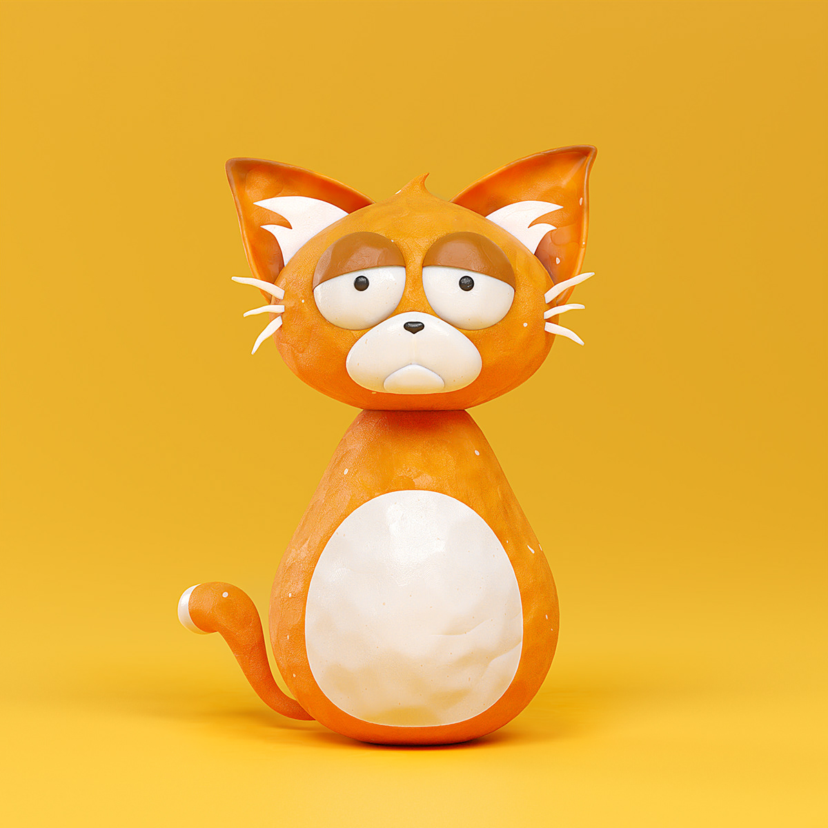 3D animation  blender Cat cats clay claymation   dirty grungy Plasticine