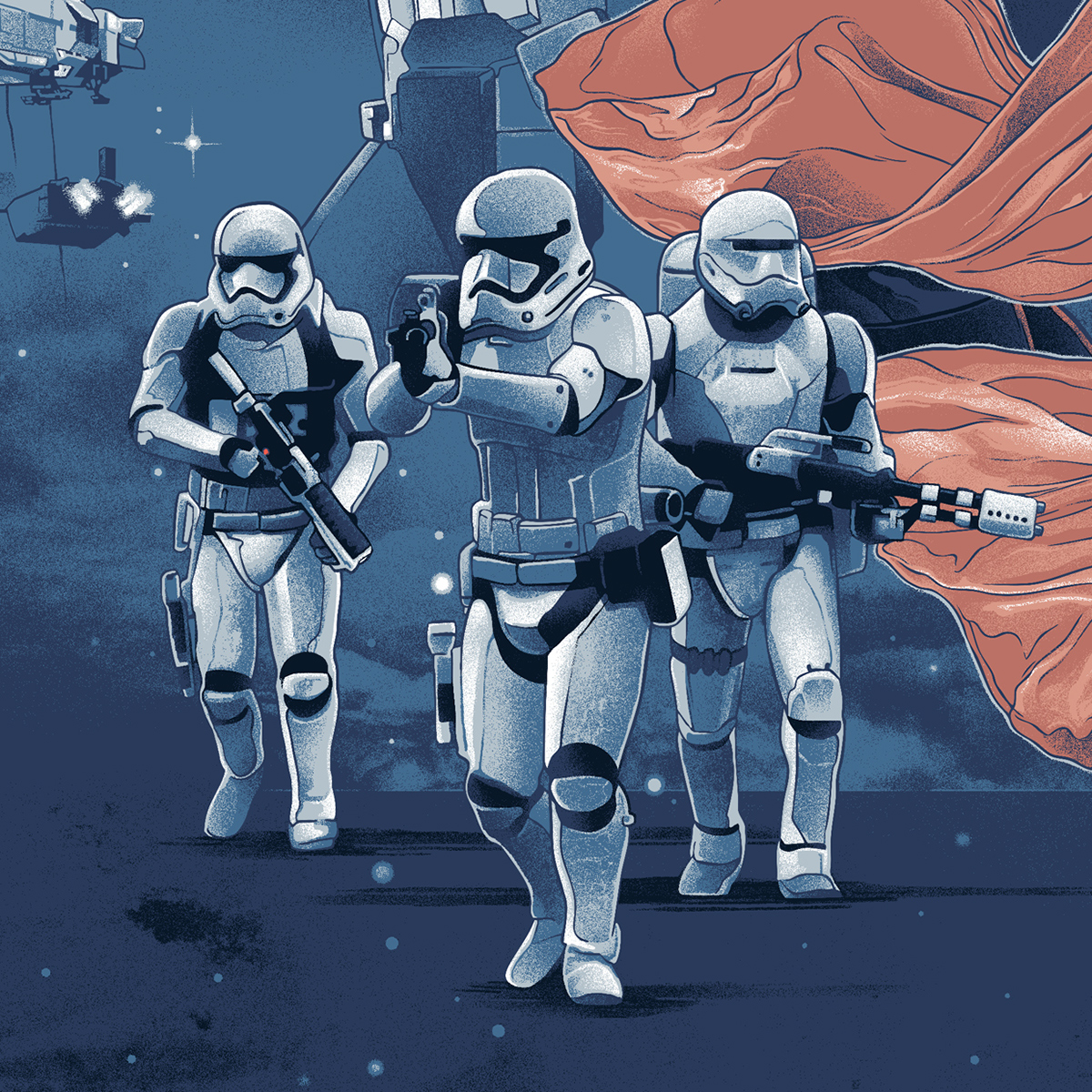 Gabz Grzegorz Domaradzki star wars bottleneck gallery The Force Awakens poster ILLUSTRATION  screen print
