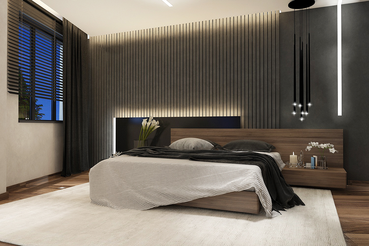 Bedroom black style on Behance