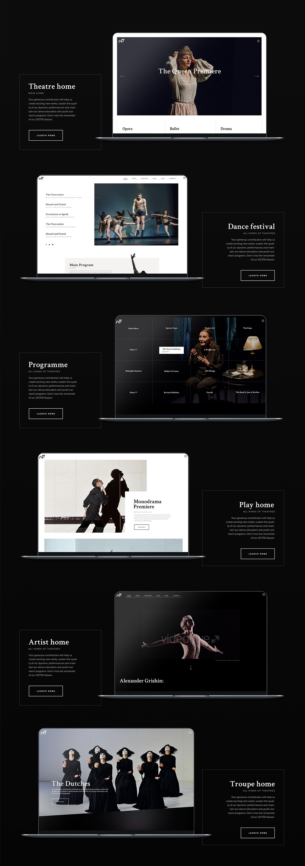 Bard - A Theatre and Performing Arts Theme