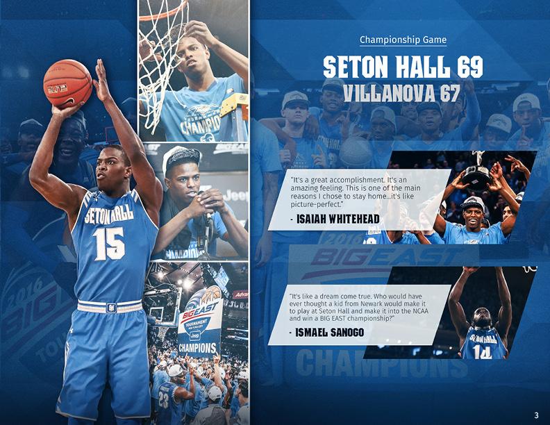 Seton Hall Men S Basketball Yearbook On Behance