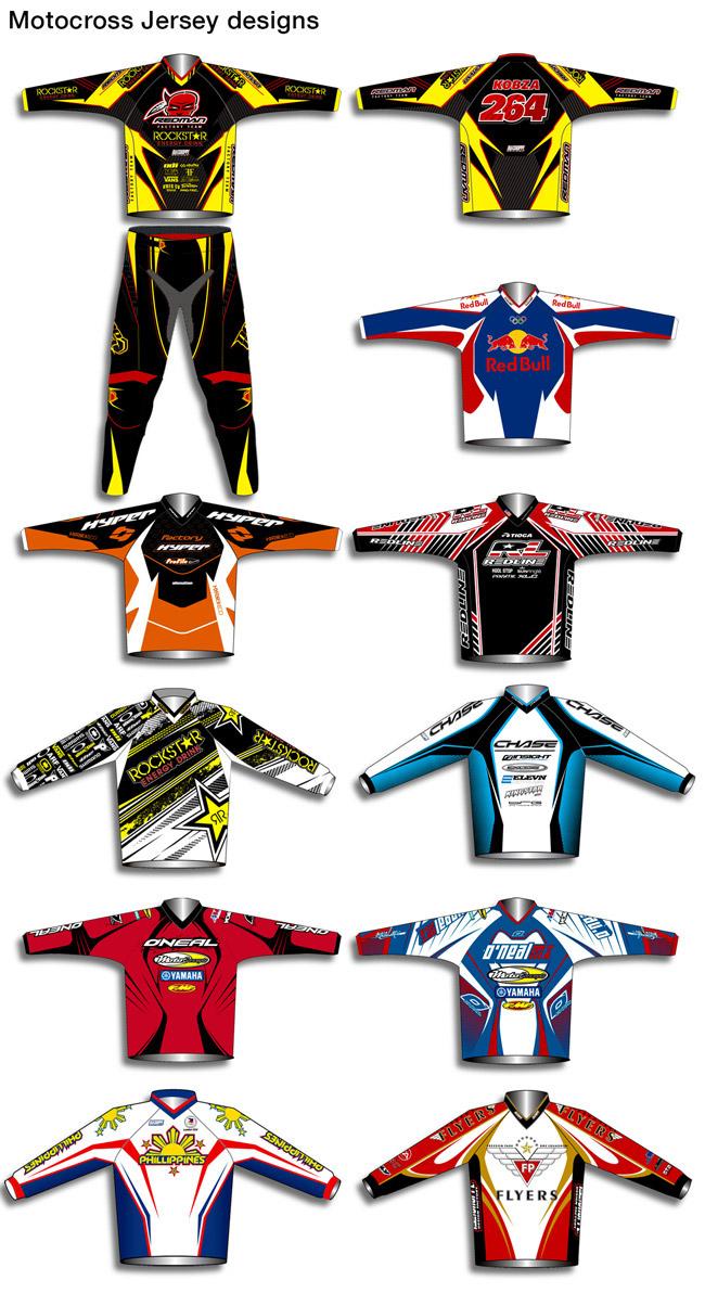 Randy Adlawan Motocross Jersey Designs