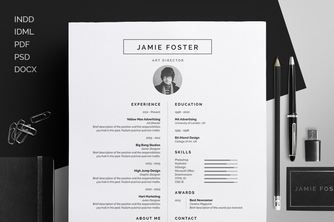 Resume/CV - \'Jamie\' on Behance