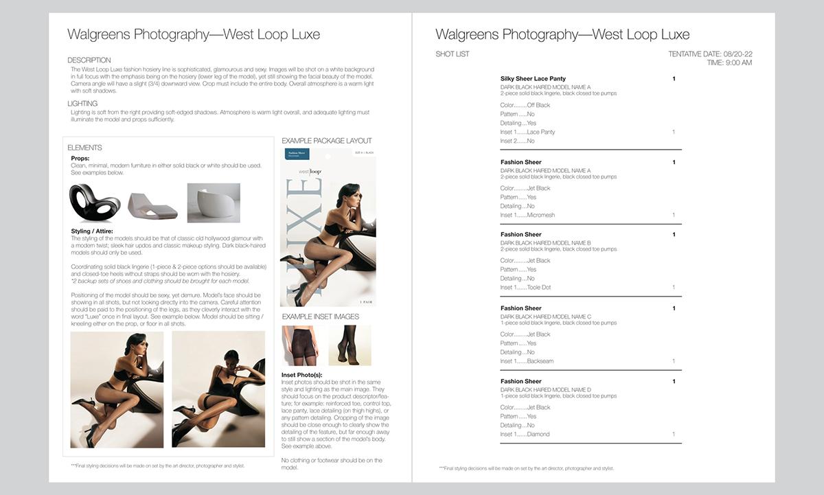 12eed1b411 Walgreens West Loop and Luxe Hosiery on Behance