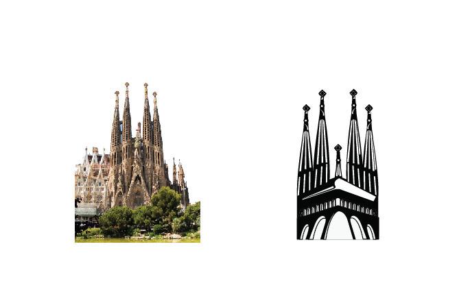 logo barcelona sagrada familia Gaudi brand vintage brand Vintage Syle