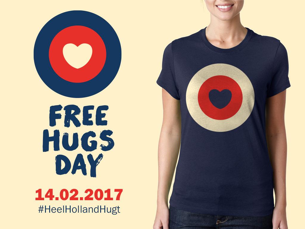 Free Hugs Day Identity On Behance