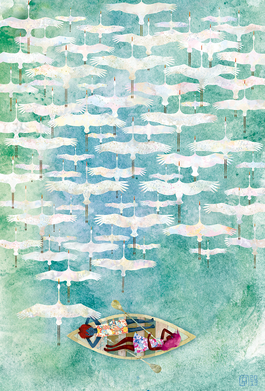 cranes Skywatchers James Langston Hughes a thousand cranes the keeper fedrigoni Canonipf8000
