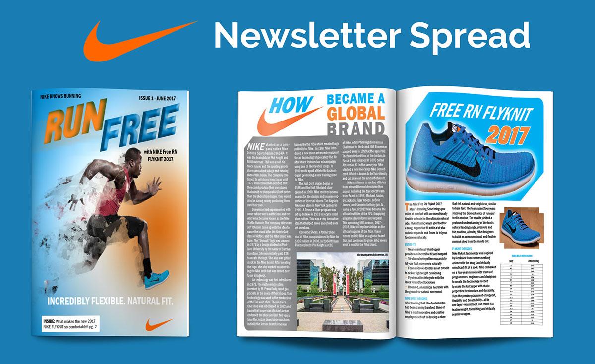 panel Aplicado identificación  Nike Newsletter on Behance