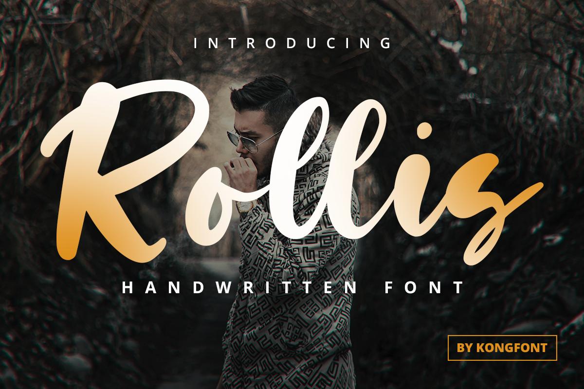branding  designfont font handwritten lettering Logotype rollis Script youtubefont