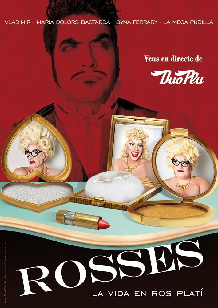cartel ilustracion poster teatro Burlesque