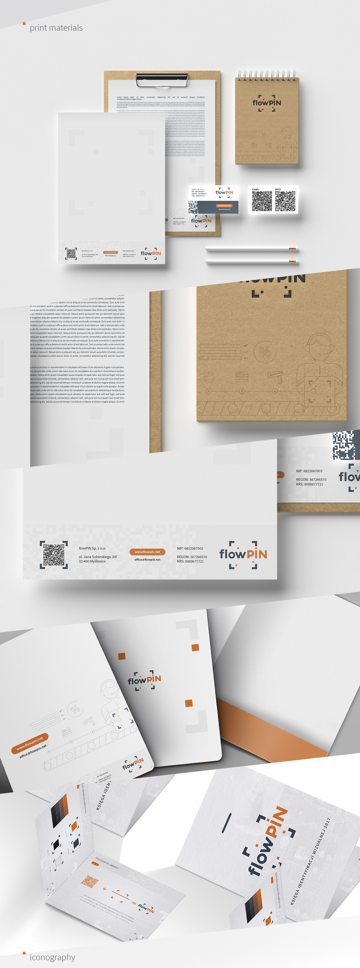 branding  Icon iconography notes business card codes technology folder print materials business paper Corporate Identity