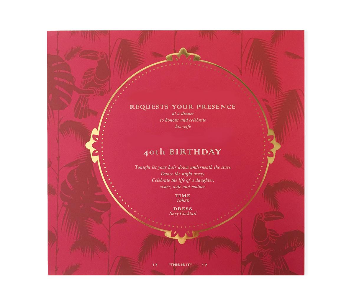 40th Birthday Invitation on Behance