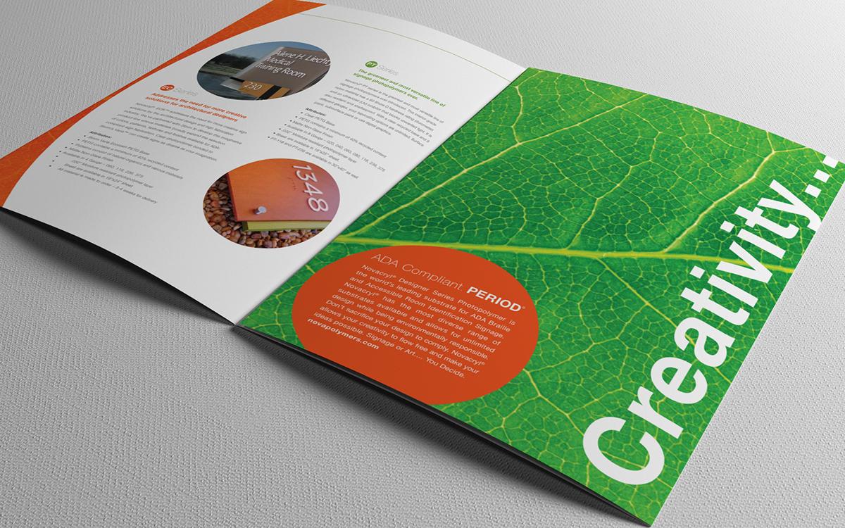 Nova Polymers marketing brochure design