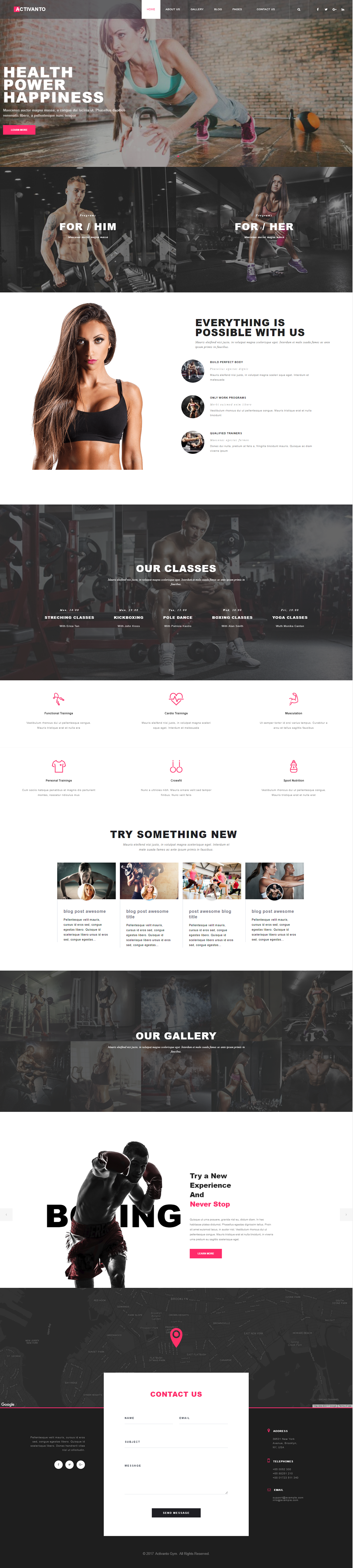 Activanto - Gym & Fitness WordPress Theme