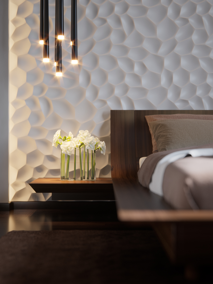 Interior Wall Texture Designs for Bedroom