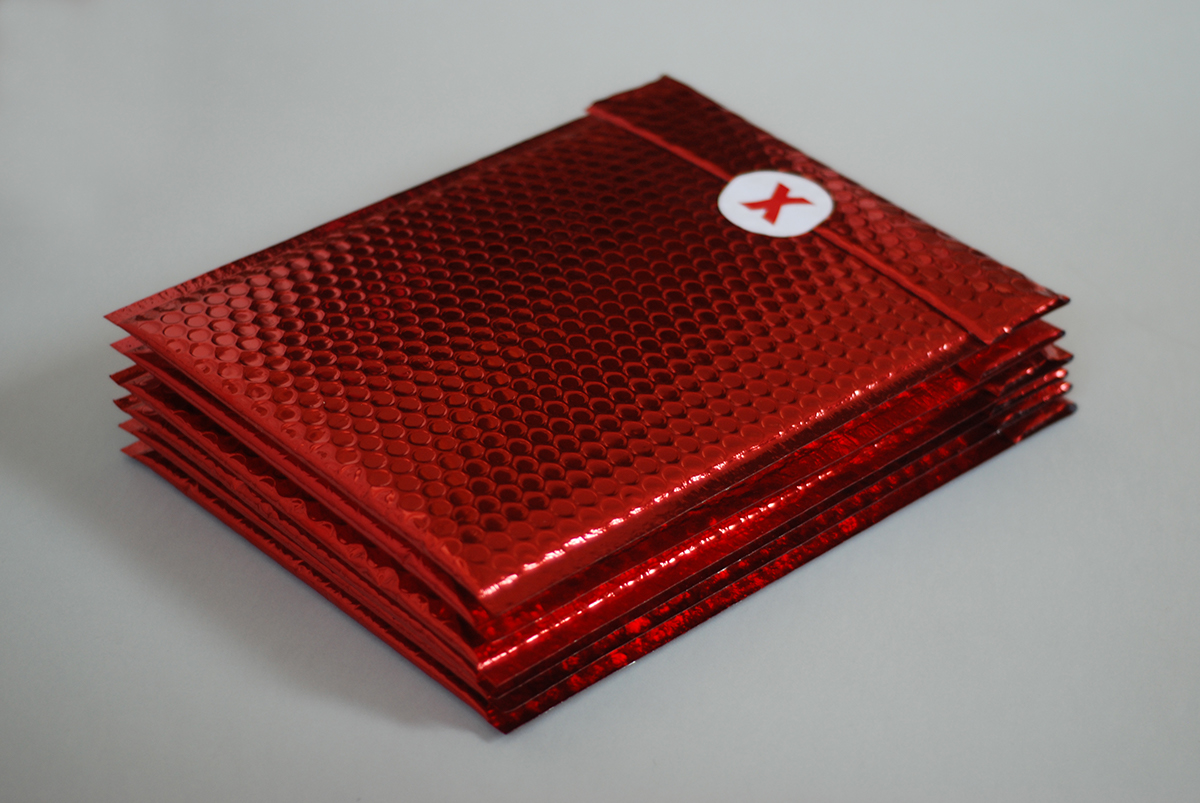 envelope metallic conference TEDx icons red
