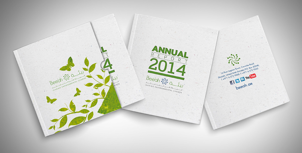 Bee'ah Annual Report on Behance