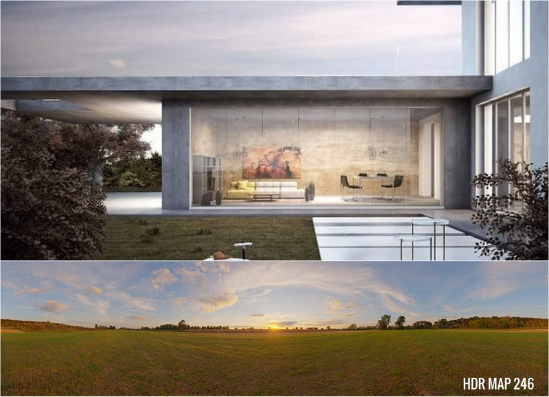 Arch viz with free hdr sky map on Behance