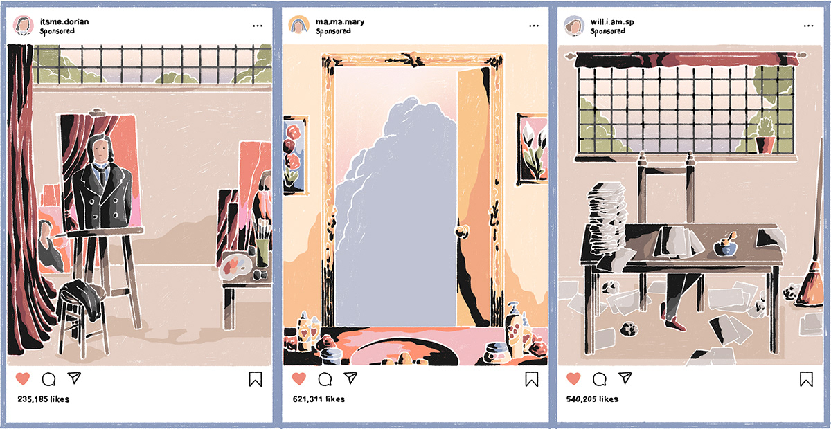 animated illustration gif Editorial Illustration Digital Drawing Character colorful INFLUENCER comic panels motion