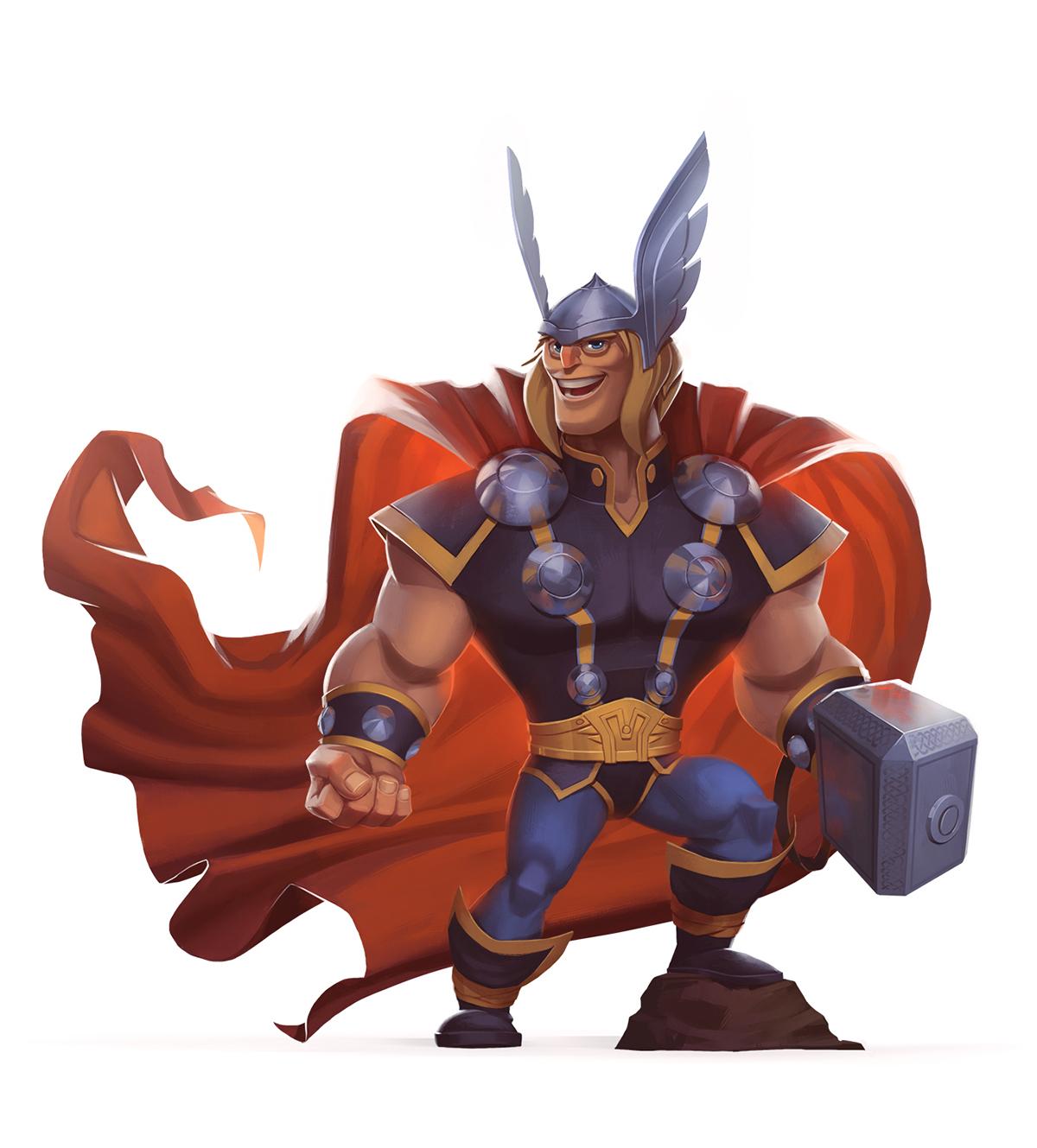 Marvel Character Design Behance : Marvel superheroes on behance