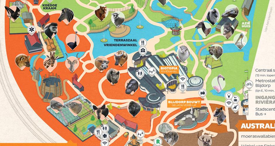 Rotterdam Zoo map on Behance