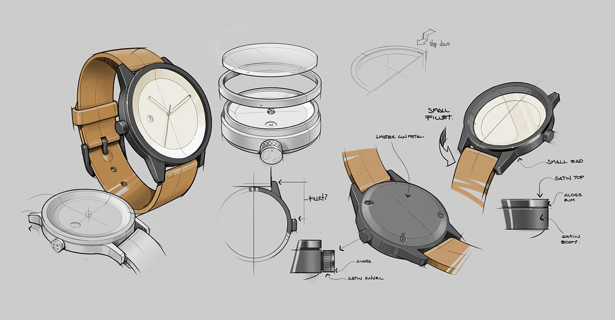 Simple watch co on behance for Best industrial design companies