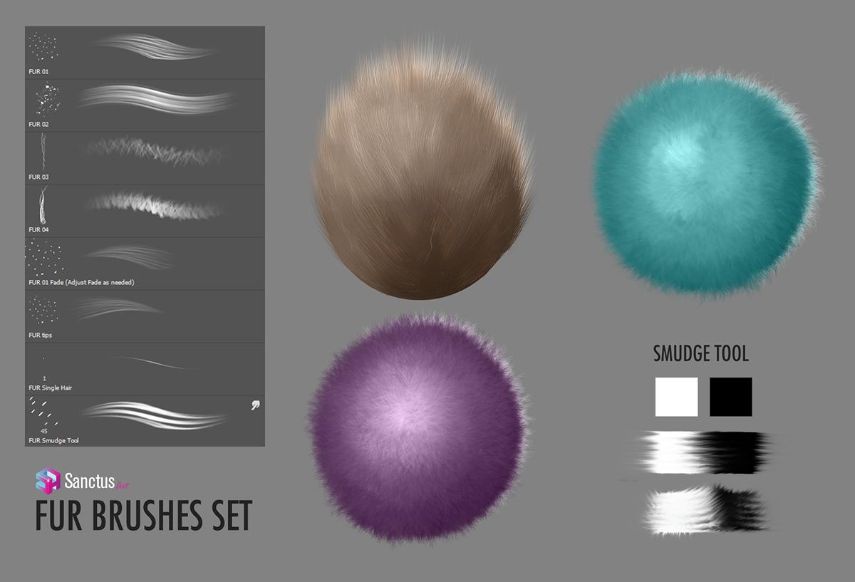 Fur Brush Set for Adobe Photoshop on Behance