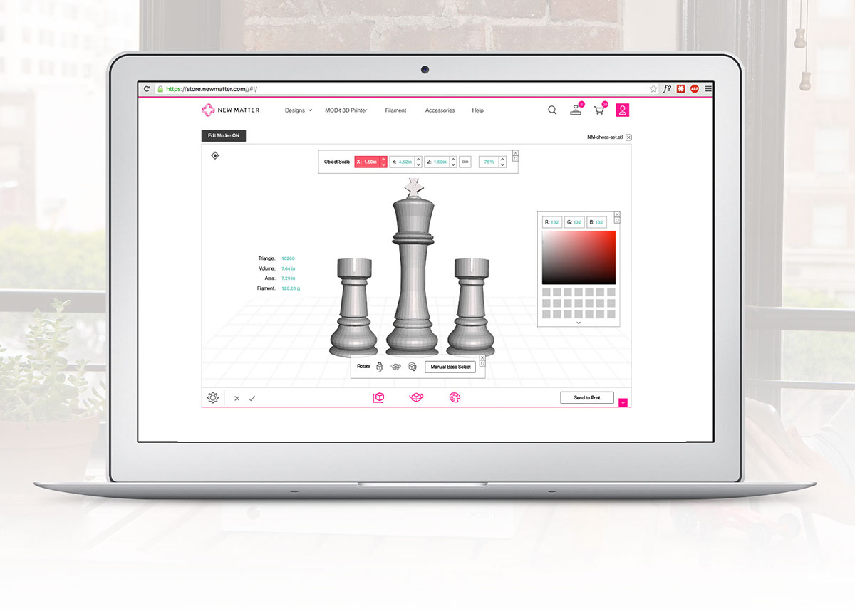 3D Viewer Feature on Behance