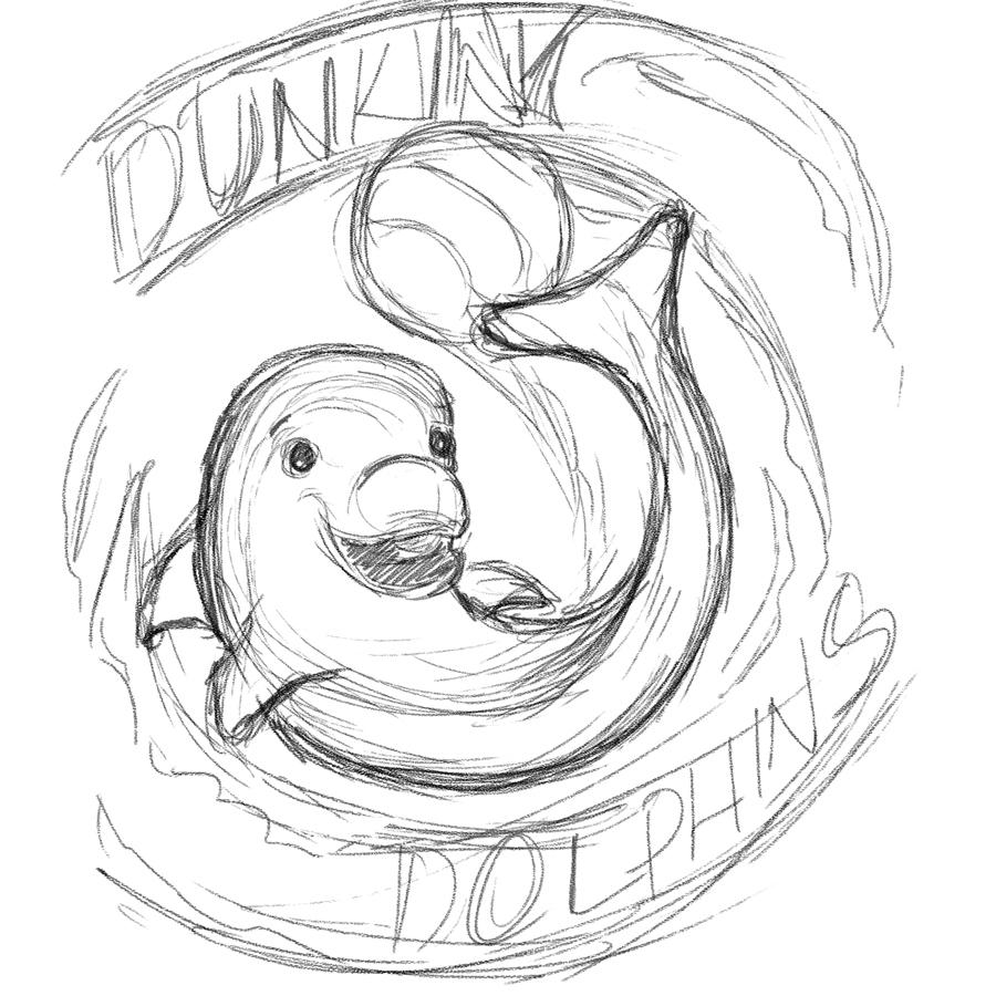 Kristina Albrecht - Dunkin' Dolphins - Kids Basketball Team Art