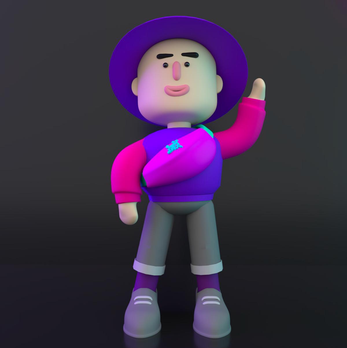 3D animation  c4d characters communicationdesign Cyberpunk design hongkong Neonlight singleparentfamily