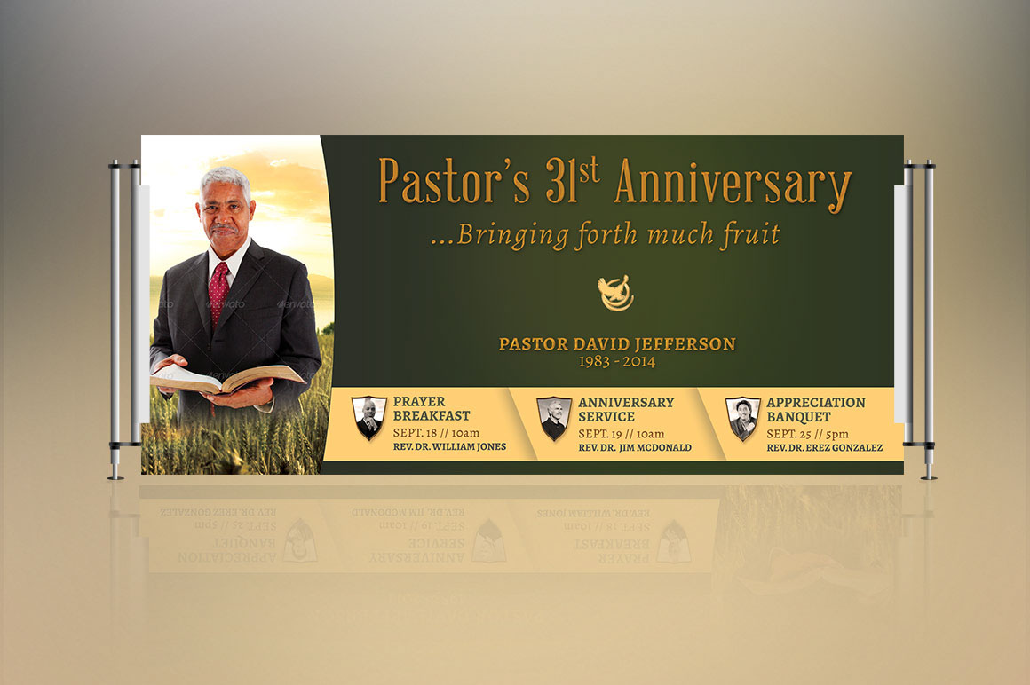 Background for pastors appreciation banner