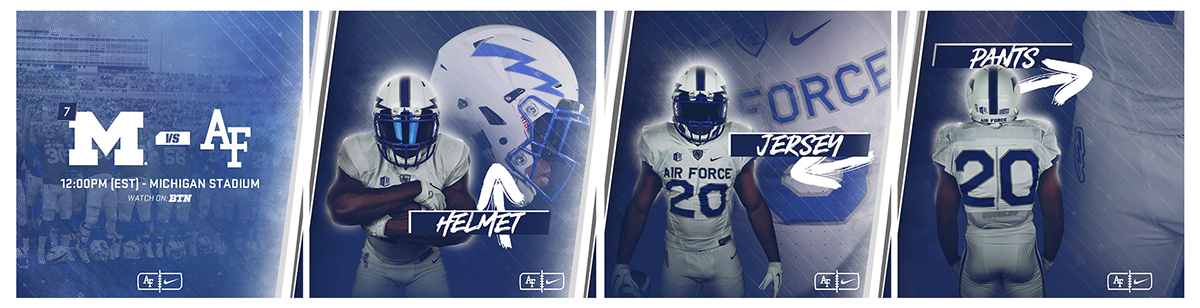 Air Force Football 2017 Uniform Graphics On Behance
