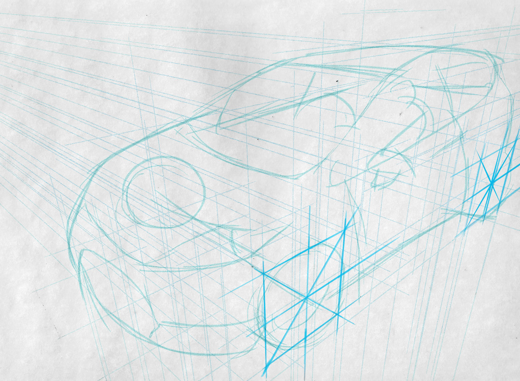 Line Drawing Car : Car drawing techniques on behance