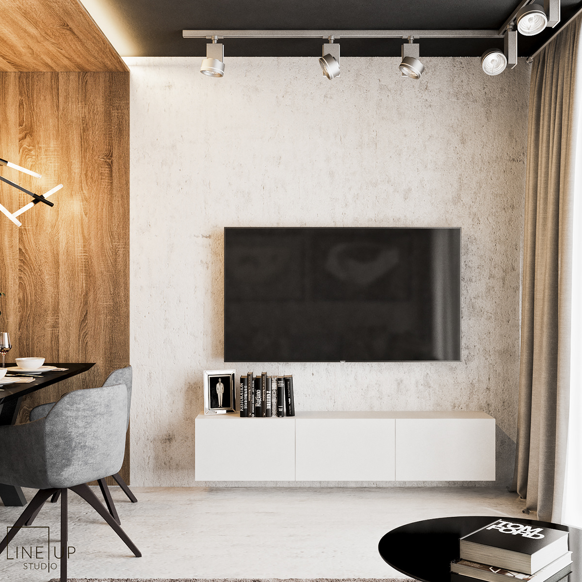 Project apartment cracow krakow 3dsmax vray design