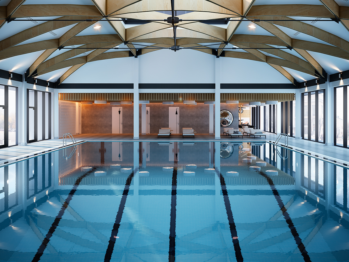 Swimming Pool For Fitness Centre On Behance