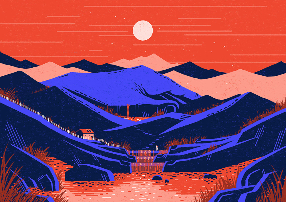 abstract Landscape Travel surreal ILLUSTRATION  color colorpallete art adventure Drawing