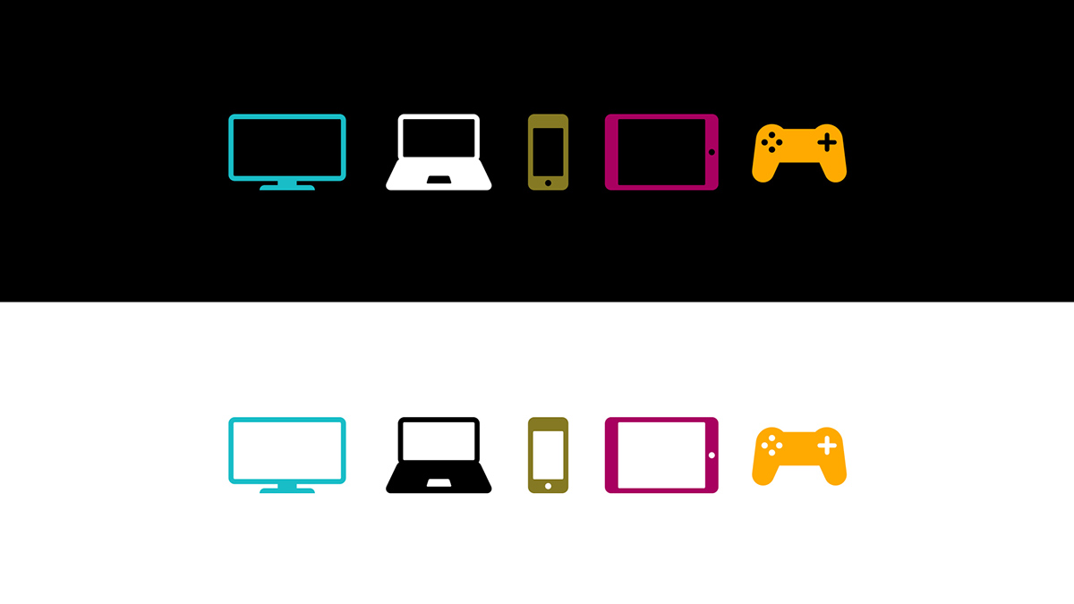 ITV Player Platform Icons on Behance