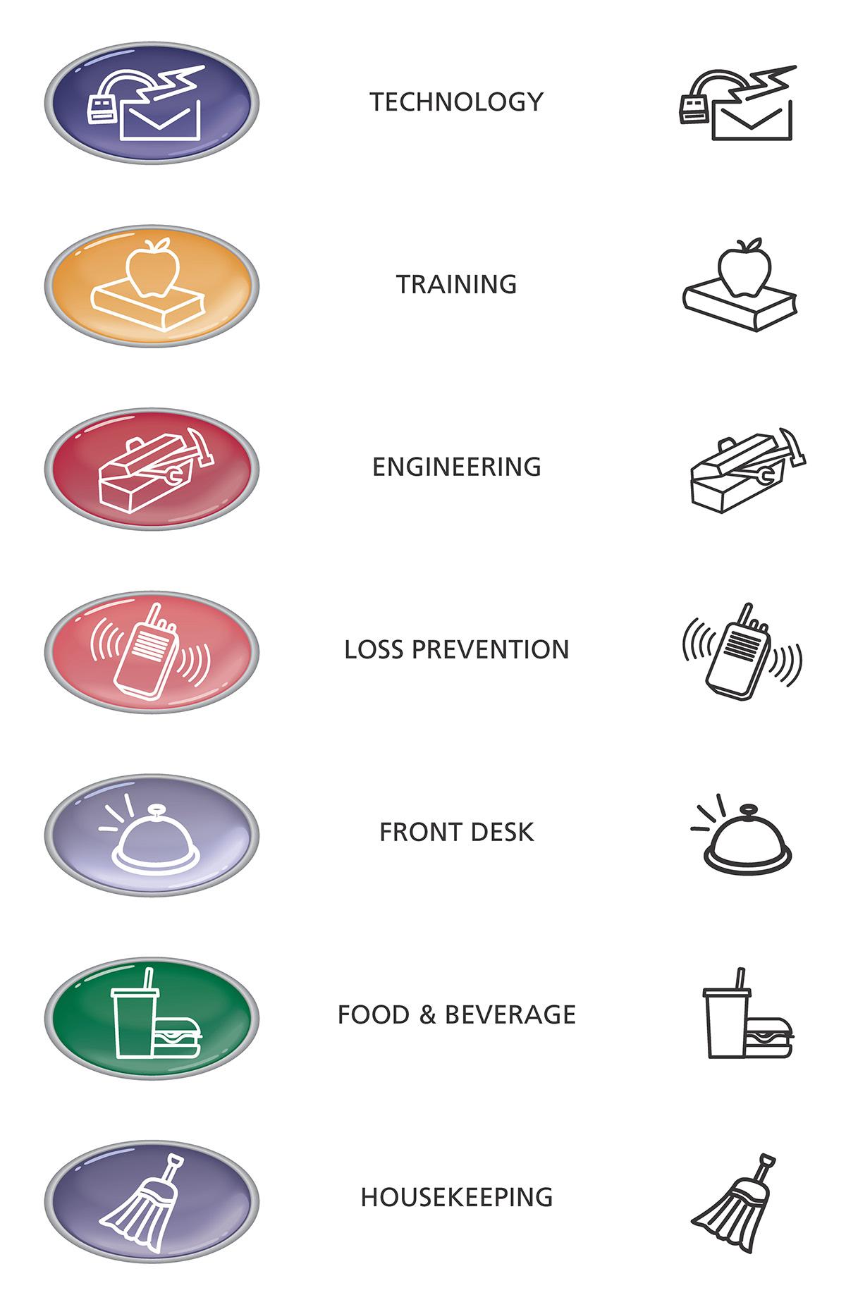 icons,ILLUSTRATION ,infographic,Marriott,pictograph,symbol,UI,instructional,training,logo