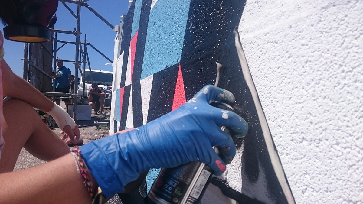 Montana Montana Cans Montana 94 geometric Mural montana hardcore shapes Geometric Shapes Galifornia Galifornia Beat Urbanart streetart spray abstract