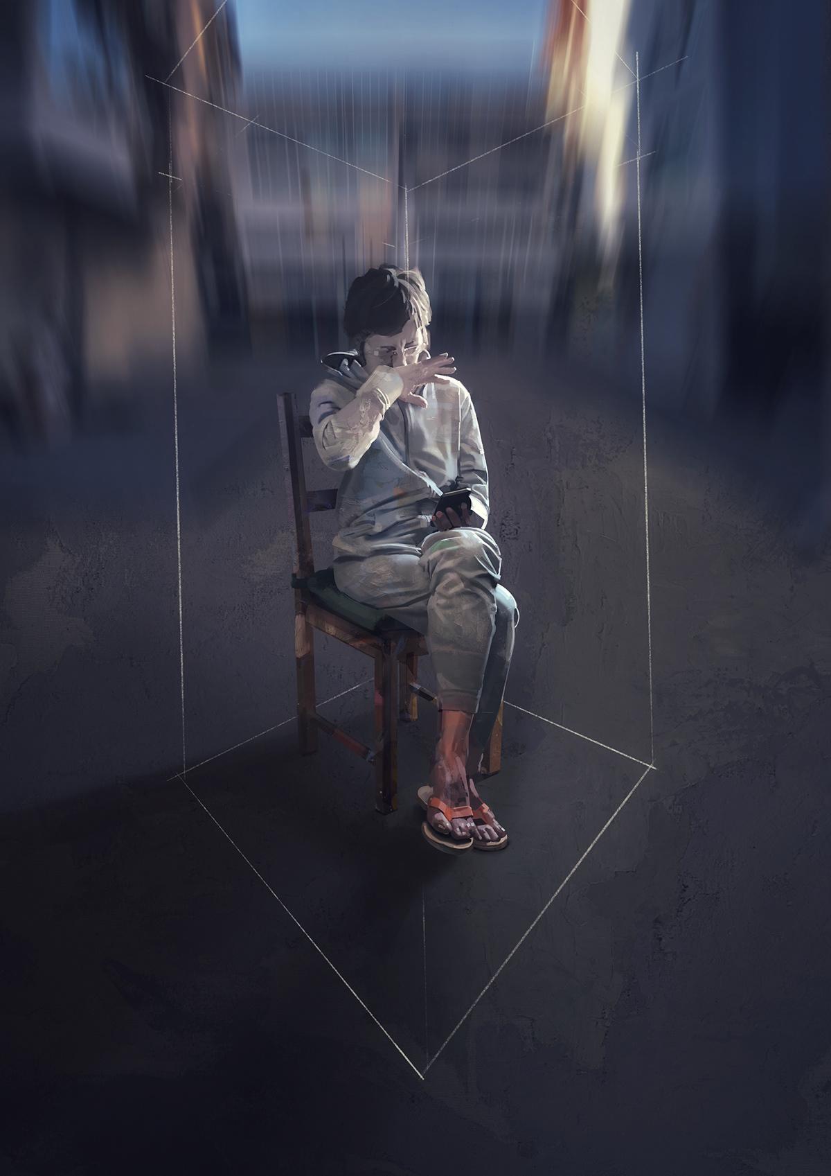 Digital Paintings dog ipad pro METAMORPHOSES ovid Realism