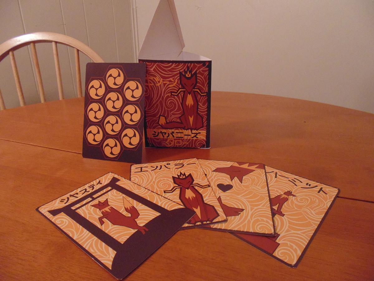 Tarot Cards kitsune Japanese Mythos Illustrator vector packaging design