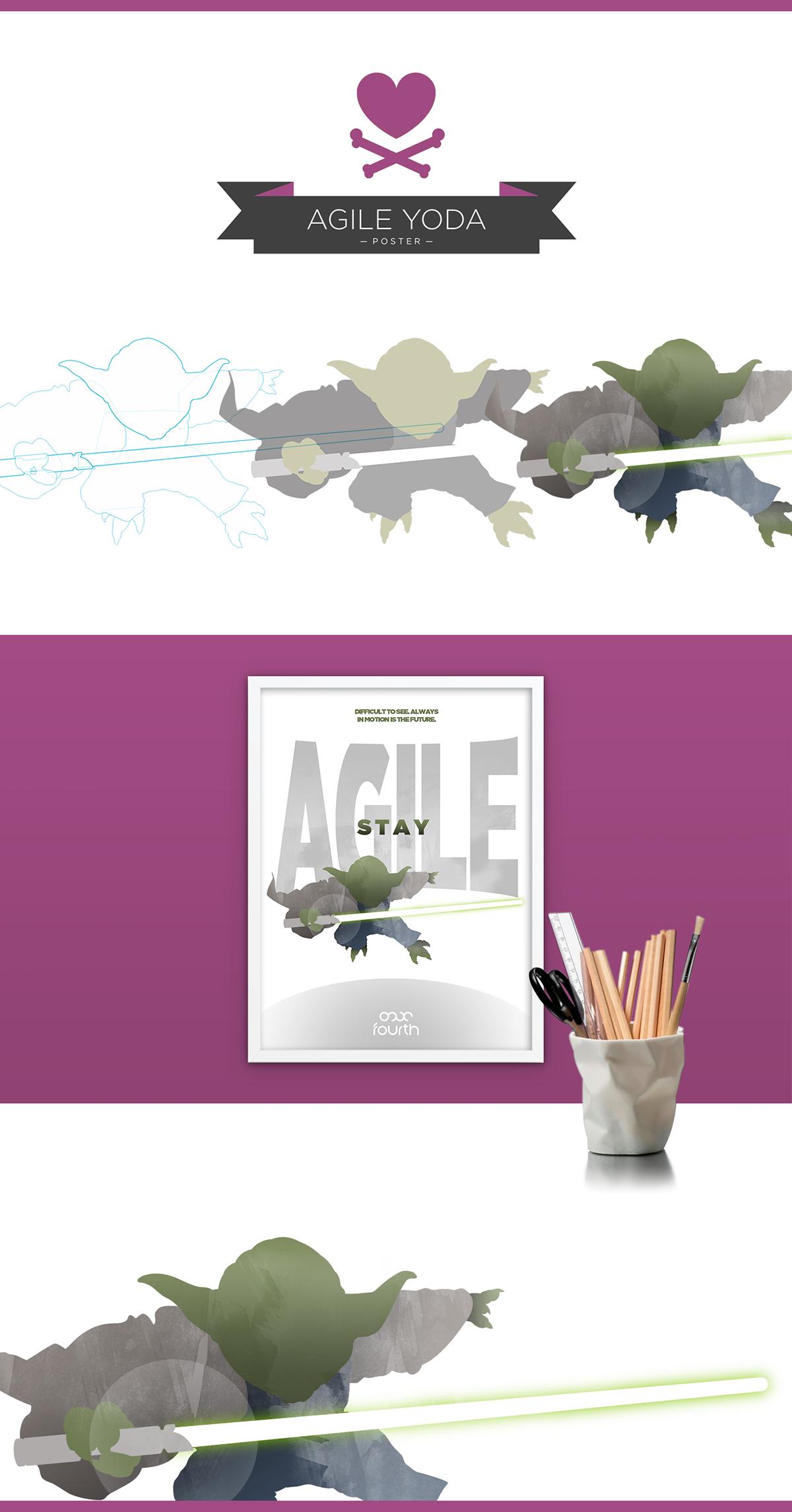 yoda poster Agile vector