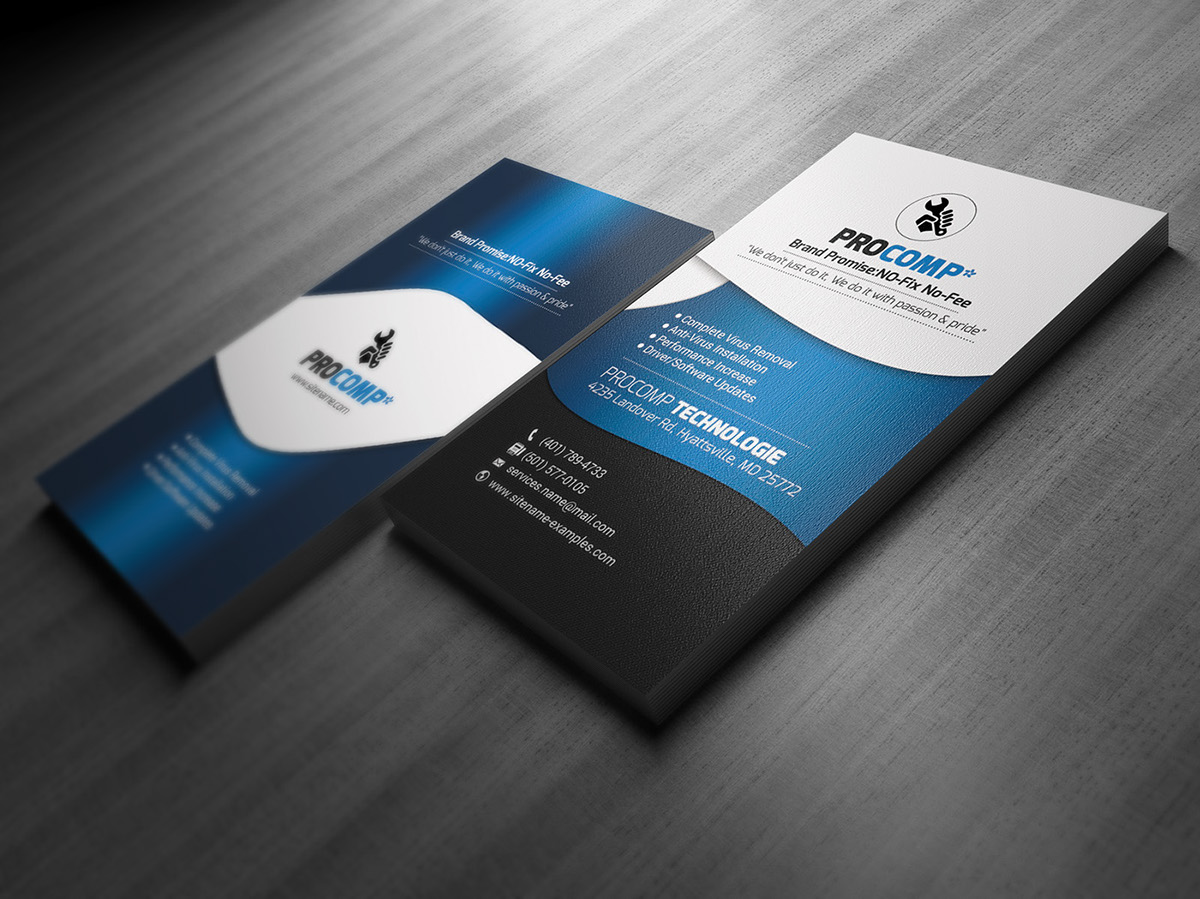 Free Service Business Card Template on Behance
