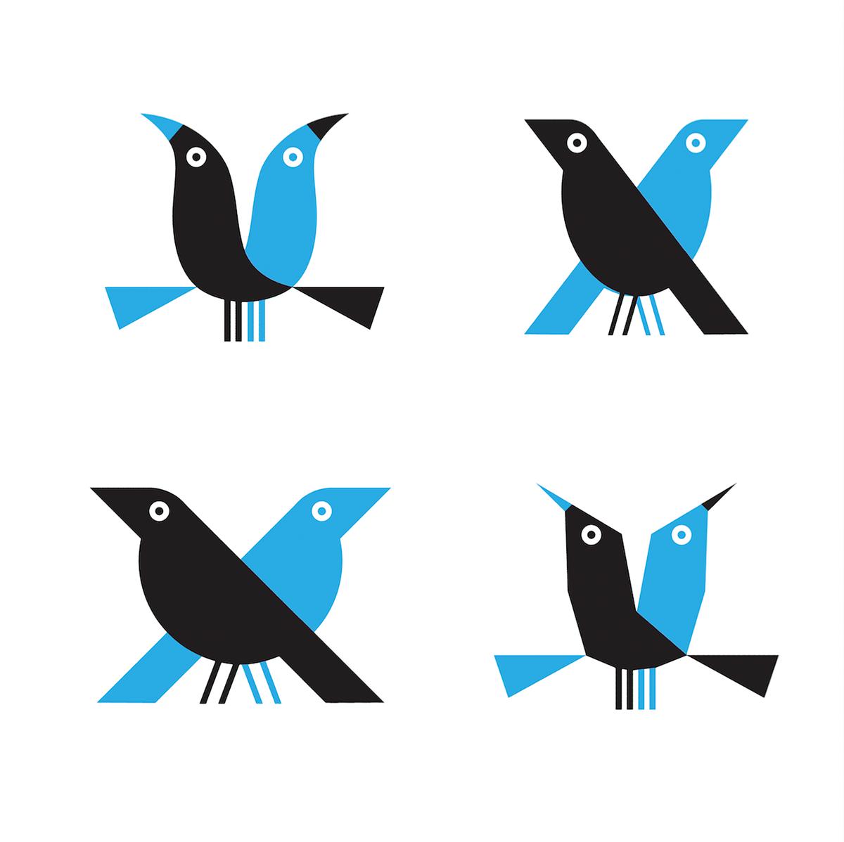 birds animals logos logotypes minimal Minimalism