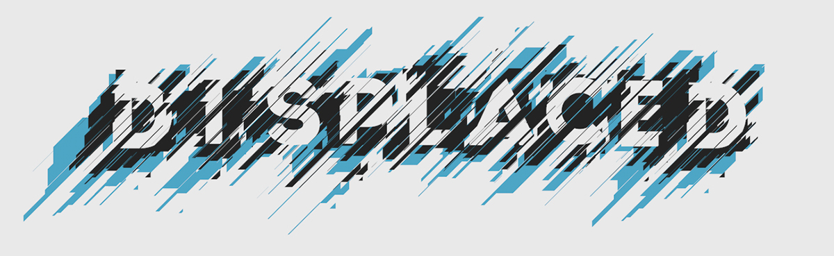displaced ION typo font typographic experiment c4d cinema 4d 3D