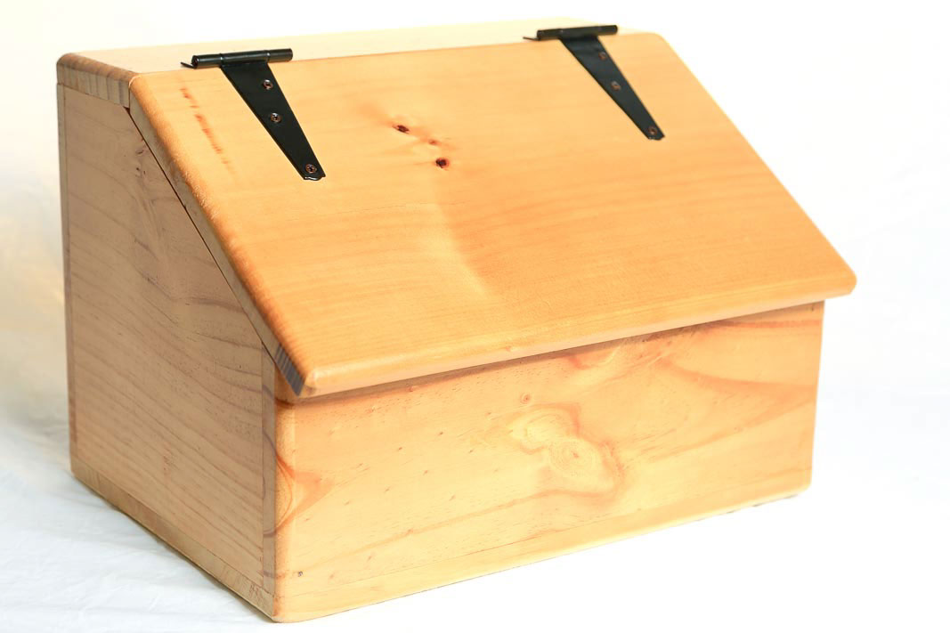 Storage Box Wooden Sloped Top Hinged Lid On Behance