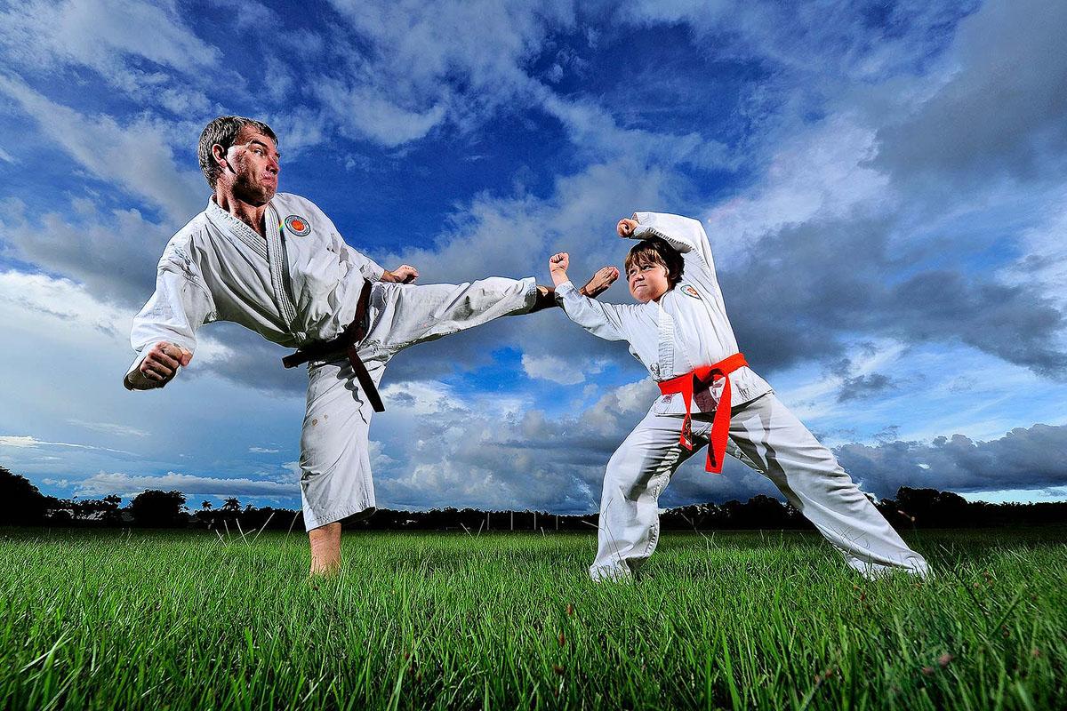 John Pratt and son, Mckenzie Pratt represented the Northern Territory in the national Shotokan Karate titles